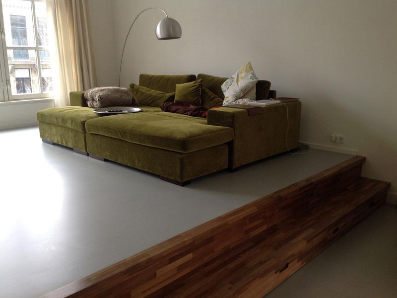 Een duurzame woning met een gietvloer